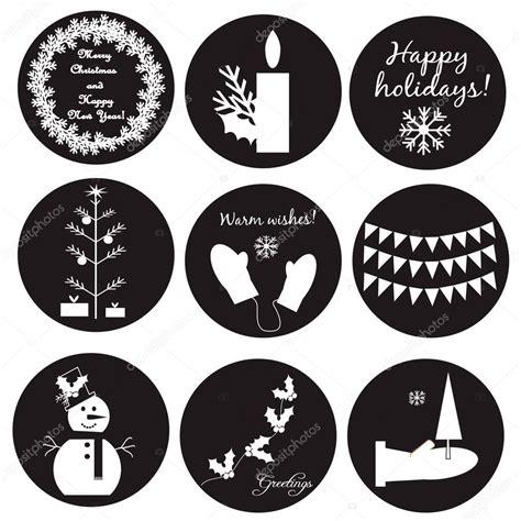 imagenes navideñas animadas blanco y negro etiquetas navide 241 as de blanco y negro vector de stock