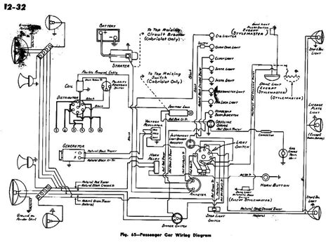 electrical wiring diagram for 1942 chevrolet passenger