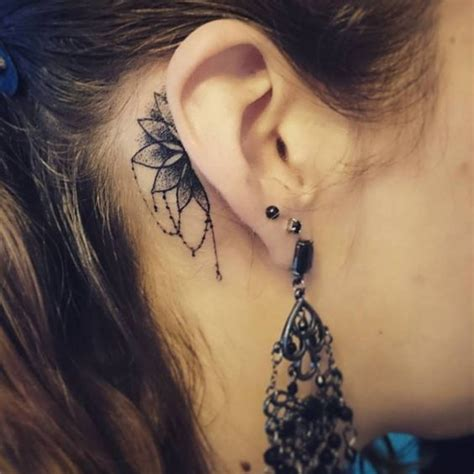 tattoo behind ear flight attendant 8 best za ucho images on pinterest small tattoo little