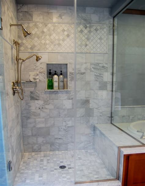 Bathroom Wall Tile Detail Shower Tile Detail Traditional Bathroom Portland