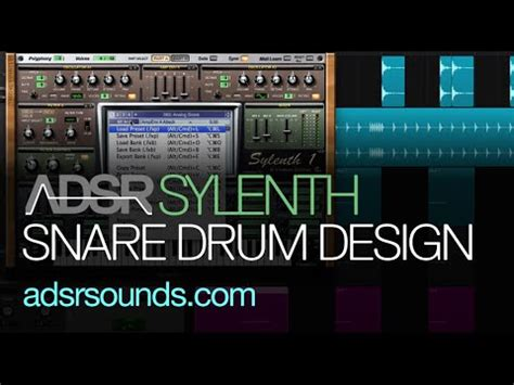 tutorial snare drum sylenth tutorial make an analog snare drum youtube