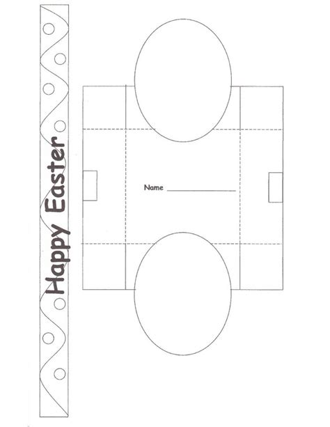 templates for easter egg boxes easter basket craft craft n home