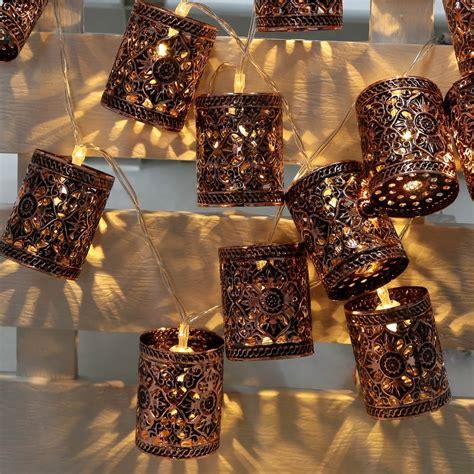 Lantern String Lights Outdoor Lixada Lantern L String Light 2 1m 20 Led Warm White Retro Vintage Metal Iron Hollow