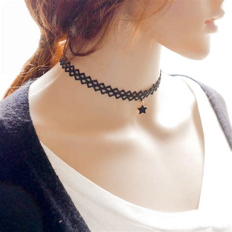 tattoo necklaces back in style korean fashion simple necklace on luulla