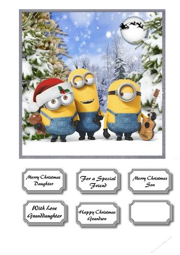 merry christmas minions cup craftsuprint