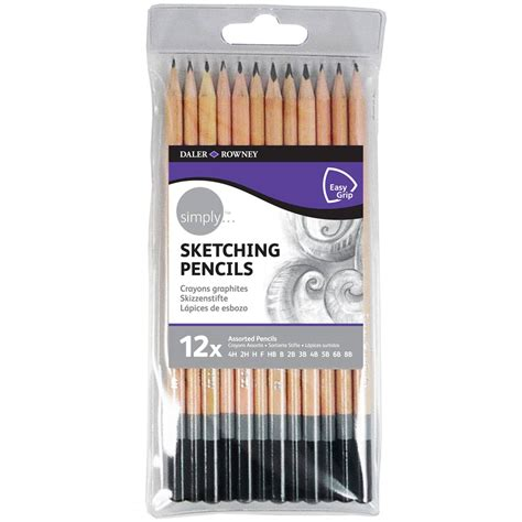 sketchbook and pencils daler rowney simply sketching pencil set 12 pack hobbycraft