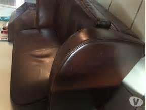 canap 233 cuir marron clasf