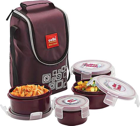 flipkart cello max fresh click 4 containers lunch box