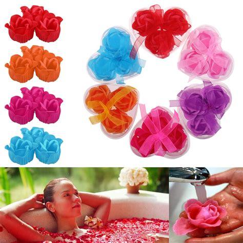 16 Flower Soap Hadiah Valentineultahgraduation Anniversary 3pcs bath soap petal flower wedding gorgeous decoration ebay