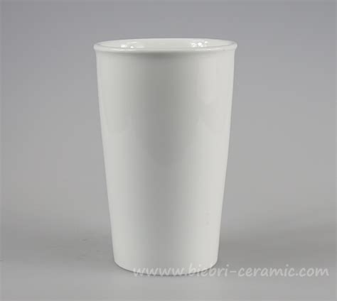 coffee cup no handle plain white cheap low price ceramic porcelain travel