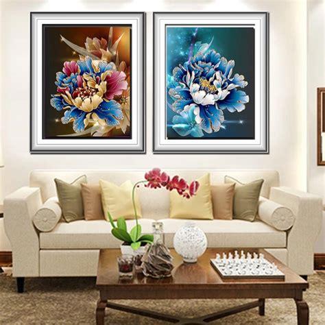 diamond home decor diy 5d diamond painting flower peacock embroidery cross