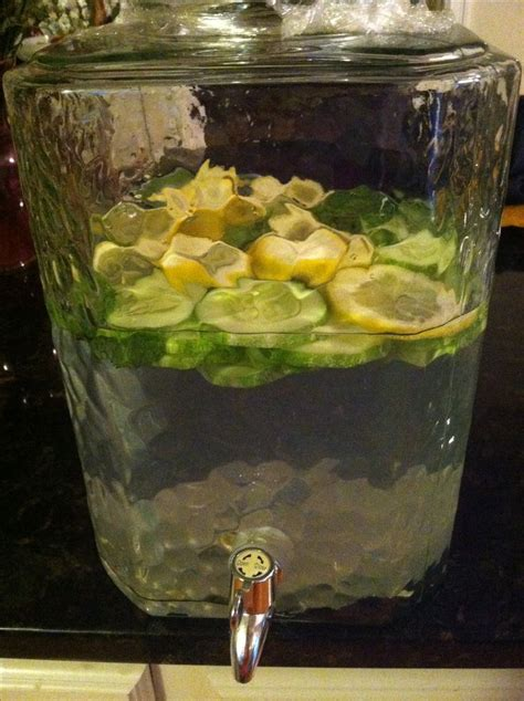 Green Tea Lemon Cucumber Detox by Lemon Cucumber Mint Detox Drink Clip
