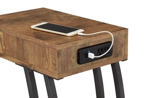 table with usb port cappuccino accent table with power usb ports
