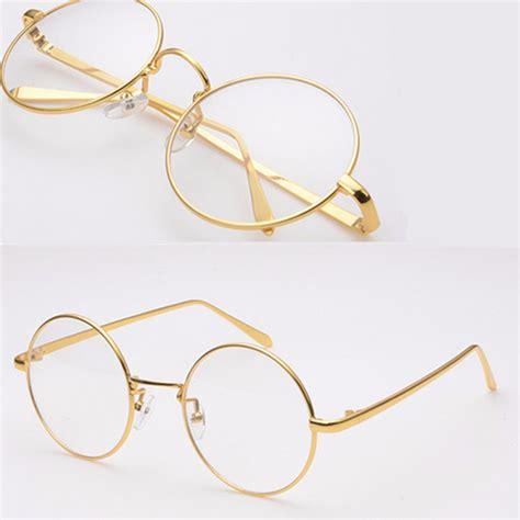 the gold rimmed spectacles penguin gold metal vintage round eyeglasses frame clear lens full rim glasses at banggood sold out