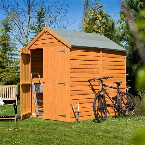 5x7 Garden Shed Shire Overlap Apex Door Shed 5x7 Garden