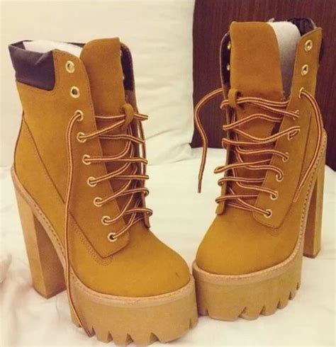 timberland boots with high heels shoes boots wedges timberland heels brown socks