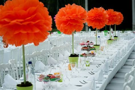 How To Make Centerpieces With Tissue Paper - 1000 images about pom poms decoration on