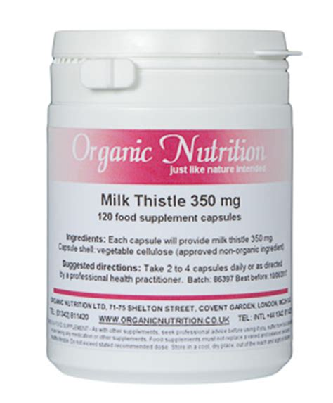How Much Milk Thistle While On A Candida Detox by Organic Milk Thistle Herb Tincture And Capsules