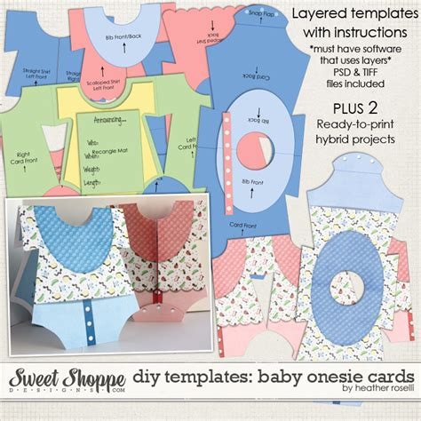 Diy Card Onesie With A Vest Card Template by Sweet Shoppe Designs Your Memories Sweeter
