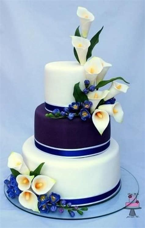 Cake   Wedding Cake Calla Lily And Freesia #2513558   Weddbook