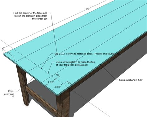 easy farmhouse table plans buy wood trestle table plans build by own