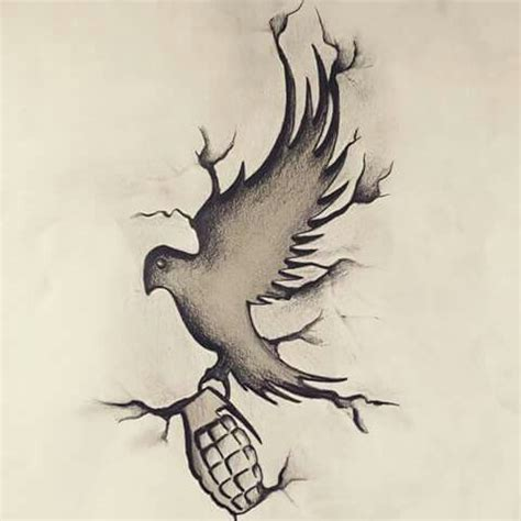 dove and grenade tattoo 17 best images about undead on rap