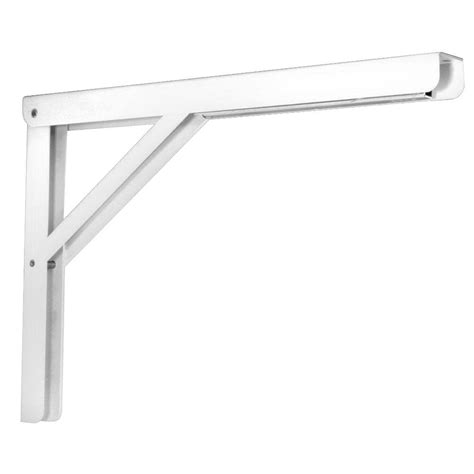 Pull Down Faucets Kitchen by Knape Amp Vogt 16 In Heavy Duty Folding Shelf Bracket In White Hd 206 16wh The Home Depot