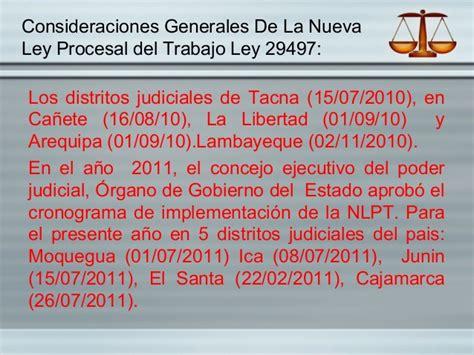 nueva ley procesal del trabajo entra en vigencia en diapositivas de la nueva ley procesal del trabajo ley