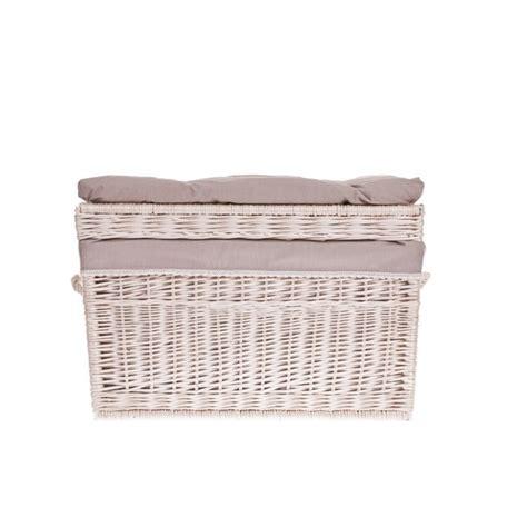 shabby chic storage baskets white wash shabby chic wicker storage basket hers