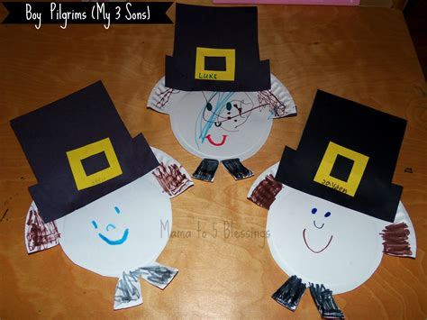 Pilgrim Paper Plate Craft - paper plate pilgrim craft learn link with linky