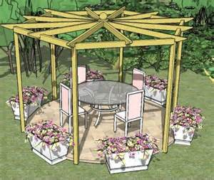 Hexagonal Pergola Designs by Hexagonal Pergola Plans