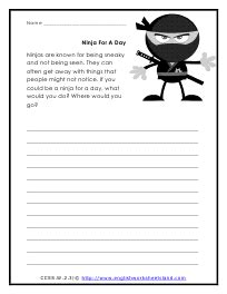 second grade creative writing prompt worksheets