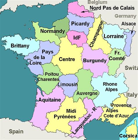 Map Of France Regions france regions map about france com