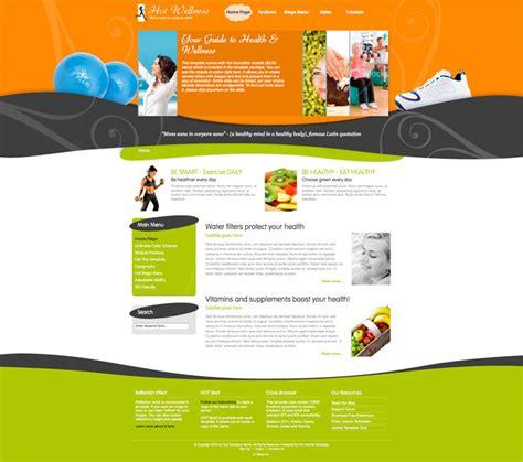 Joomla Wellness Template Hot Wellness Hotthemes Wellness Template