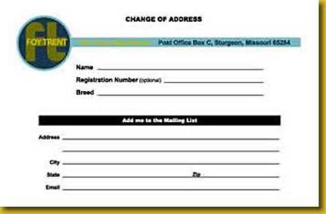 foid card picture template official change of address form usps change of address u