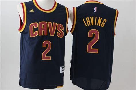 new cavaliers 2 kyrie irving navy blue swingman jersey
