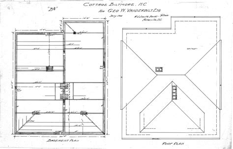 Roof Plans by Cottage Quot B2 Quot Basement Roof Plan Biltmore