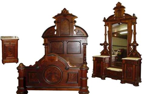 antique victorian bedroom furniture monumental 3 pc american victorian bedroom set by thomas