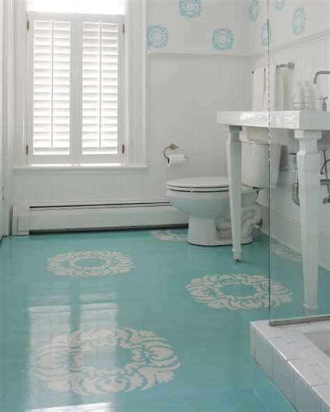 painted flooring painted and stenciled concrete floors bleue pi 232 ce