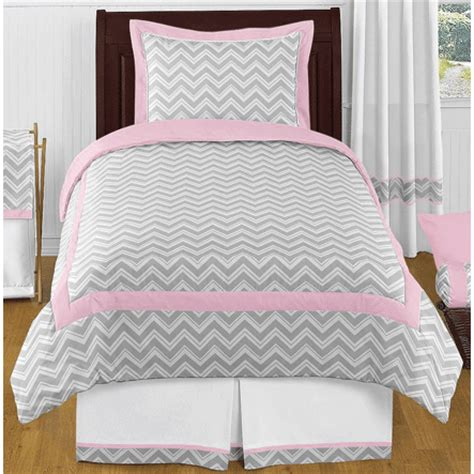 twin chevron bedding sweet jojo designs zig zag pink grey chevron twin
