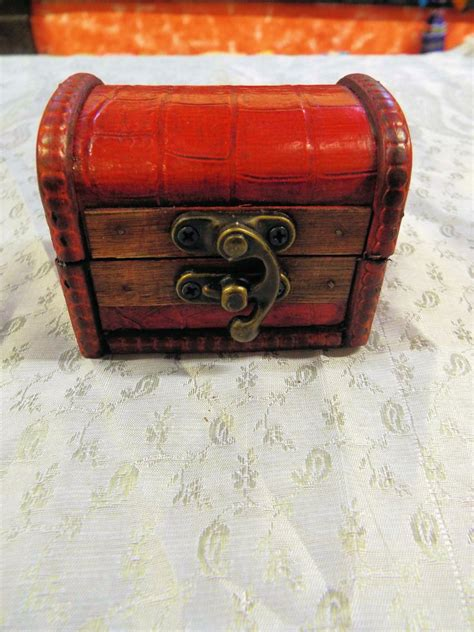 Handmade Wooden Treasure Chest - box wooden handmade wooden leather vintage treasure chest