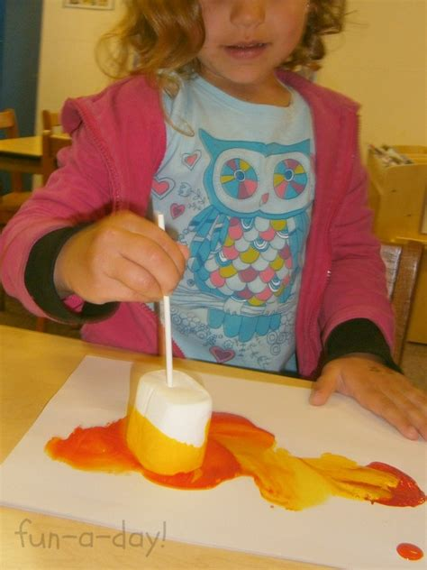 preschool painting free painting with marshmallows cing themed process