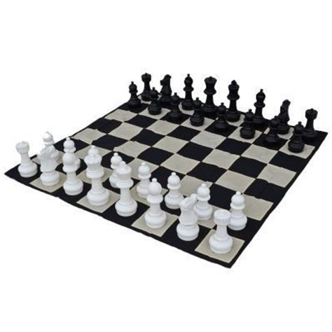 Chess Mats And Pieces by Megachess Large Chess Pieces And Large Chess Mat Black