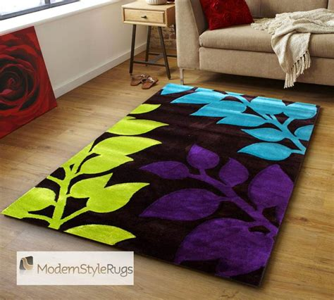 Purple And Lime Green Area Rugs Black Orange Purple Lime Green Blue Orange Funky Rug Designs 3 Sizes Ebay