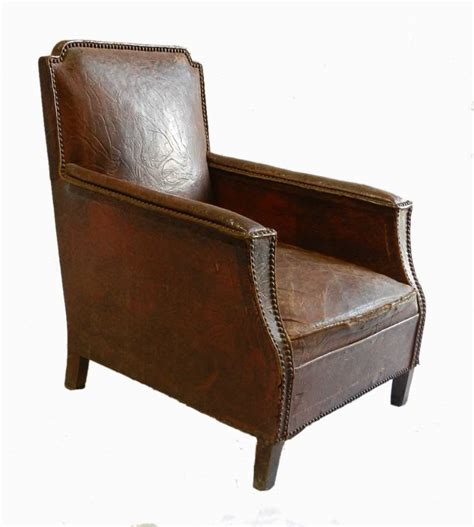 art deco leather armchair french art deco leather armchair club chair in from tryst