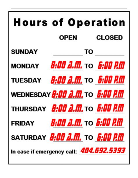 hours of operation pin grooming salon on