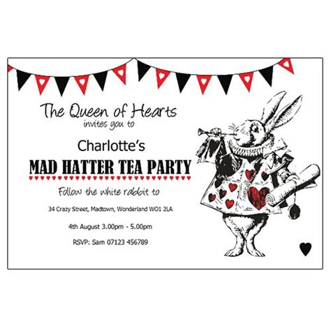 mad hatter tea party invitations christmanista com