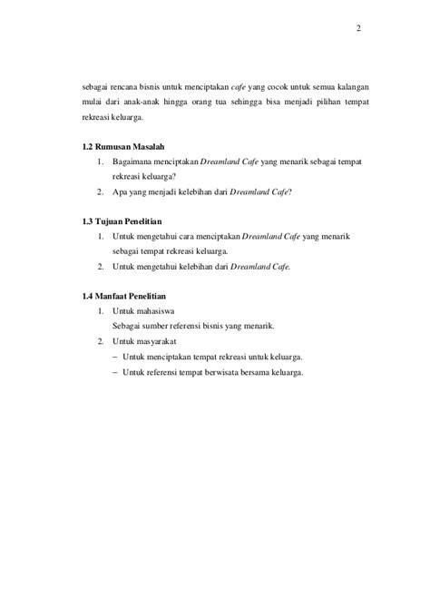 makalah membuat usaha baru makalah perencanaan usaha cafe