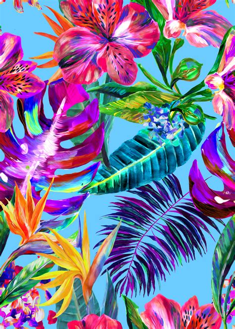 printable tropical flowers the hero print for cruise 2017 is a playful design named