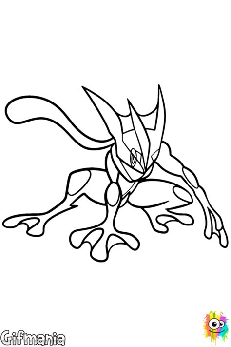 pokemon coloring pages frogadier greninja coloring page